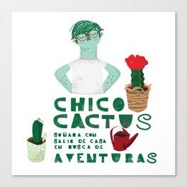 Chico cactus Canvas Print