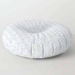 Diamond Gemstone with Silver Accents Pattern Floor Pillow
