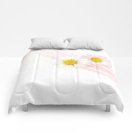 Spring Flowers White and Pink Comforters