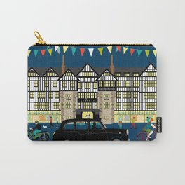 Art Print of Liberty of London Store - Night with Black Cab Carry-All Pouch