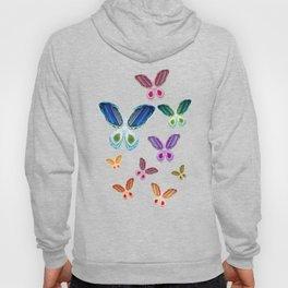 A Rainbow of Agate Butterflies Hoody