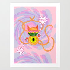 Cat O' Five Tails Art Print