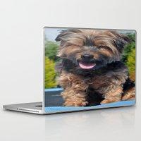 yorkie Laptop & iPad Skins featuring Yorkie by Sammycrafts