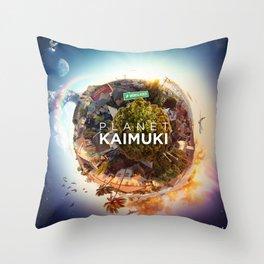 Planet Kaimuki Throw Pillow