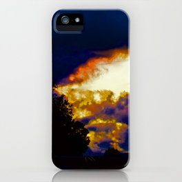 """Sunset #87"" with poem: Technicolor Clouds iPhone Case"