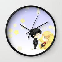 ouat Wall Clocks featuring OUAT - Buttercup Princess by Yorlenisama
