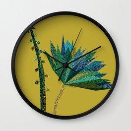 Green flower (mustard) Wall Clock