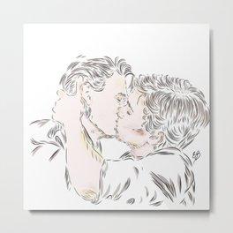 Evak kiss Metal Print