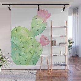 Watercolor Cactus   Buy Watercolor Art   Society 6 Wall Mural