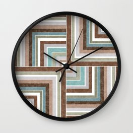 3 marble combination patchwork Wall Clock