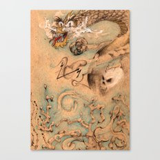 Dragon Lair Doodles Canvas Print