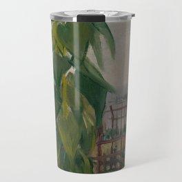 Allotment with Sunflower Travel Mug