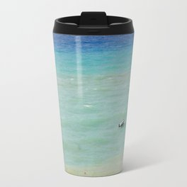 boats against the current (revisited) Travel Mug