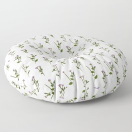 PRESSED FLOWERS - Chickweed Willowherb Floor Pillow