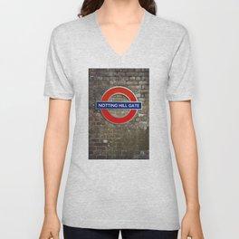 Notting Hill Gate Tube Sign Unisex V-Neck