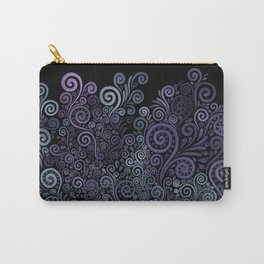 3d Psychedelic Violet and Teal Carry-All Pouch