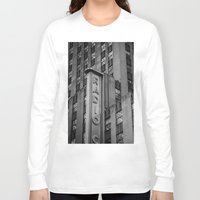 radio Long Sleeve T-shirts featuring Radio City by MikeMartelli