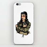 grimes iPhone & iPod Skins featuring Grimes by Jamie Luna