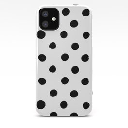 Modern Handpainted Abstract Polka Dot Pattern iPhone Case