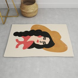 Abstract Cowgirl Rug
