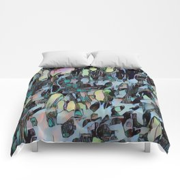 Chaos in Blue Comforters