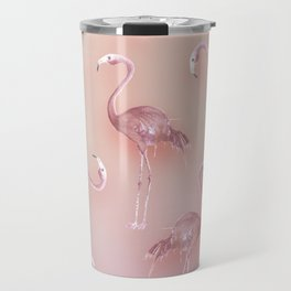 Flamingo Pattern Travel Mug