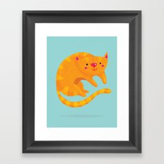 Orange cat Framed Art Print
