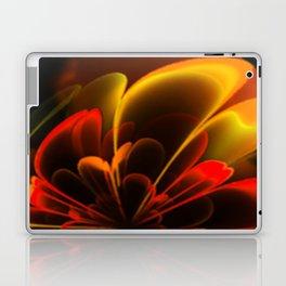 Stylized Half Flower Red Laptop & iPad Skin