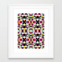 comic book Framed Art Prints featuring Comic Book Tribal by Beth Thompson