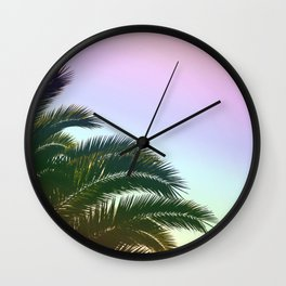 Palm Leaves  - Tropical Sky - Chilling Time Wall Clock