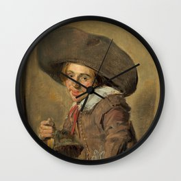 """Frans Hals """"A Young Man in a Large Hat"""" Wall Clock"""