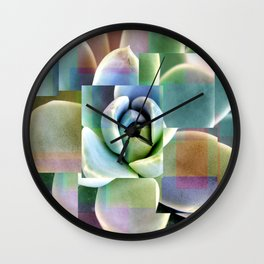 Succulents collage Wall Clock