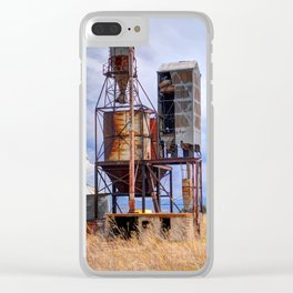 Old Rusted Grain Silo - Cache Valley - Utah Clear iPhone Case