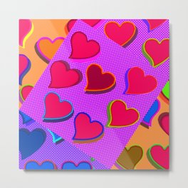 Equal different hearts ... Metal Print
