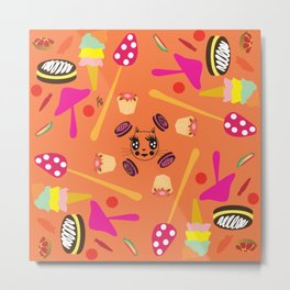 candy fashionista cats Metal Print