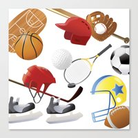 sports Canvas Prints featuring sports! by Dues Creatius