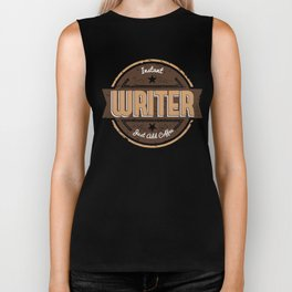 Instant Writer Just Add Coffee Funny Gift Ideas Biker Tank