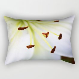 White Easter Lily Close Up Rectangular Pillow