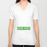 sesame street V-neck T-shirts featuring Im-Still-Kind-Of-Mad-They-Never-Actually-Told-Us-How-To-Get-To-Sesame-Street-T-Shirt by anto harjo