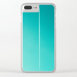 White Plane on Blue Sky Clear iPhone Case
