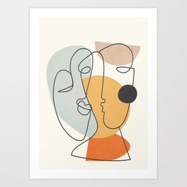 Abstract Faces 30 Art Print