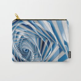 Blue Rose Spiral Carry-All Pouch