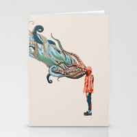huebucket Stationery Cards featuring Octopus in me by Huebucket
