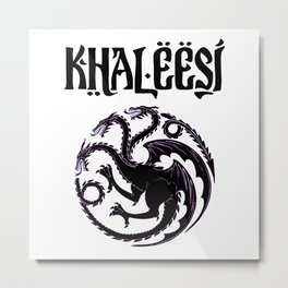 Khaleesi.dragon Metal Print