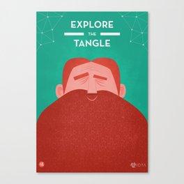 IOTA - Explore the Tangle II Canvas Print