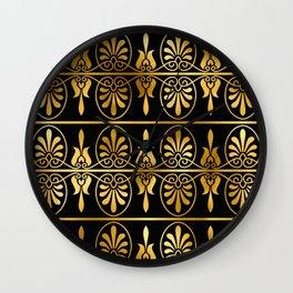 Art Deco Royale 24-Karat Gold Sophisticated Pattern Wall Clock