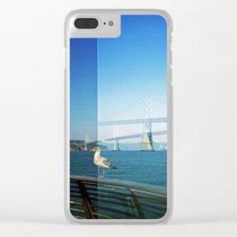 Gull and Bay Bridge Clear iPhone Case