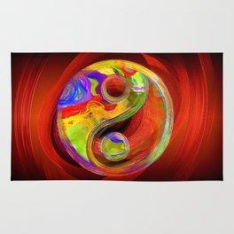 Yin Yang Colorful Serenity Rug