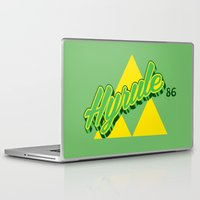 hyrule Laptop & iPad Skins featuring Hyrule by Head Glitch