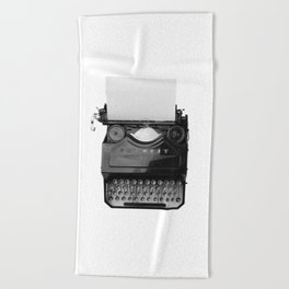 typewriter Beach Towel